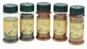 Mélanges d'aromates bio Cook