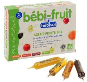 Jus de fruit biologique pour nourisson
