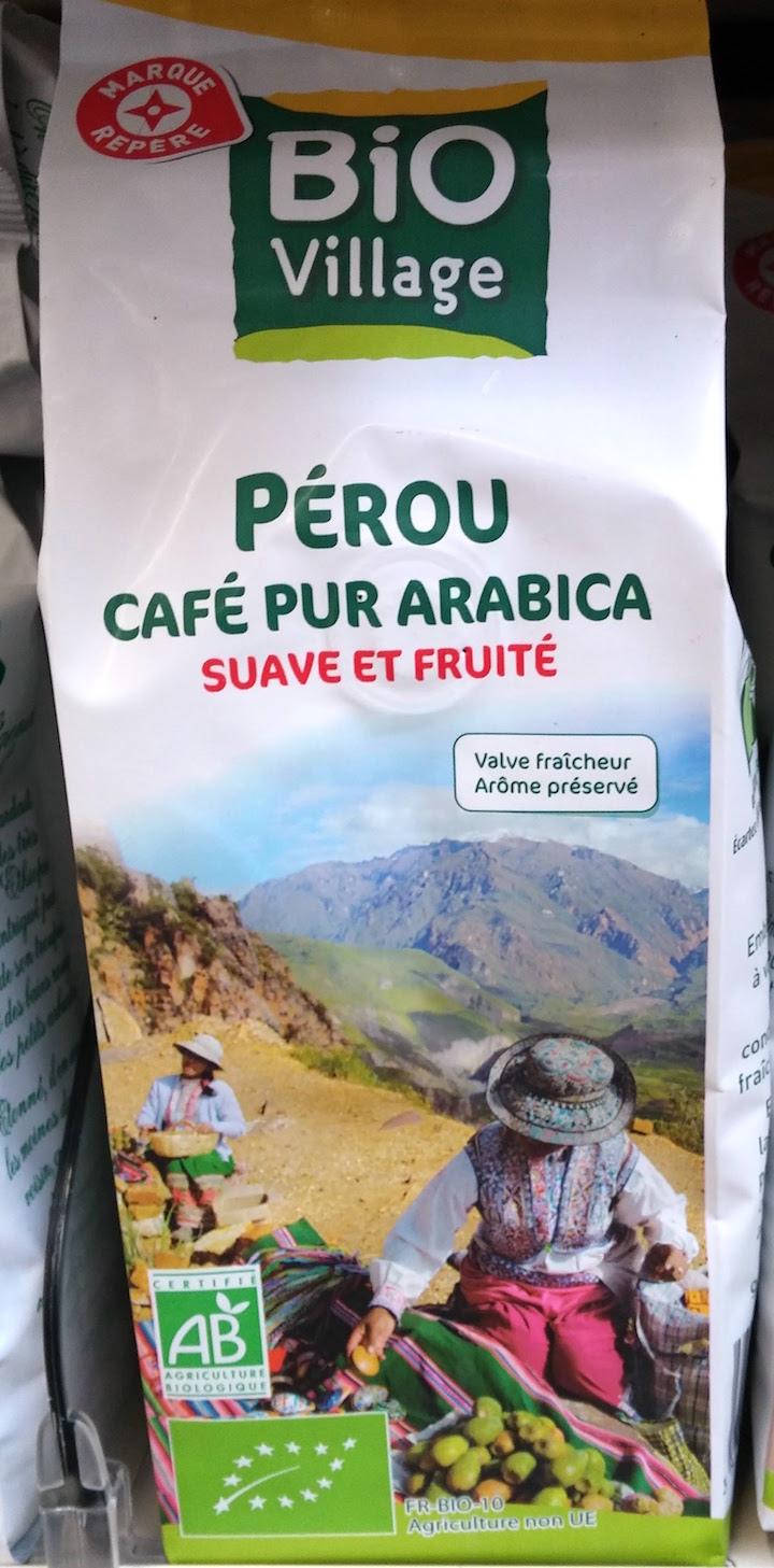 Café bio en grains (Pérou), par Bio Village