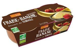 Vitabio dessert semoule bio fraise banane