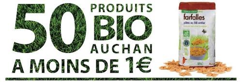 produits bio Auchan pas cher (1 euro)